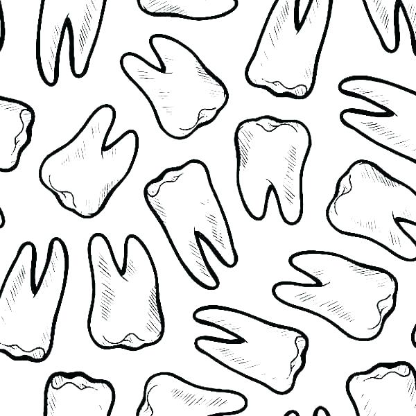 600x600 Tooth Coloring Page Tooth And Toothbrush Coloring Pages