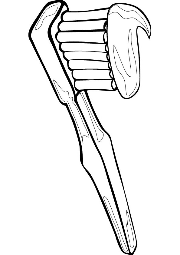 595x842 Toothbrush Coloring Page