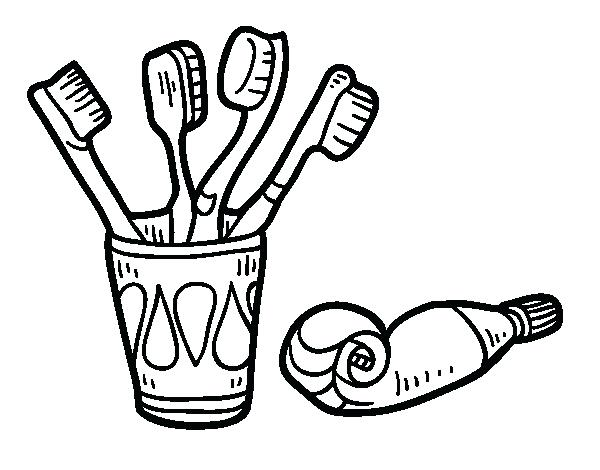 600x470 Toothbrush Coloring Page Toothbrushes And Toothpaste Coloring Page