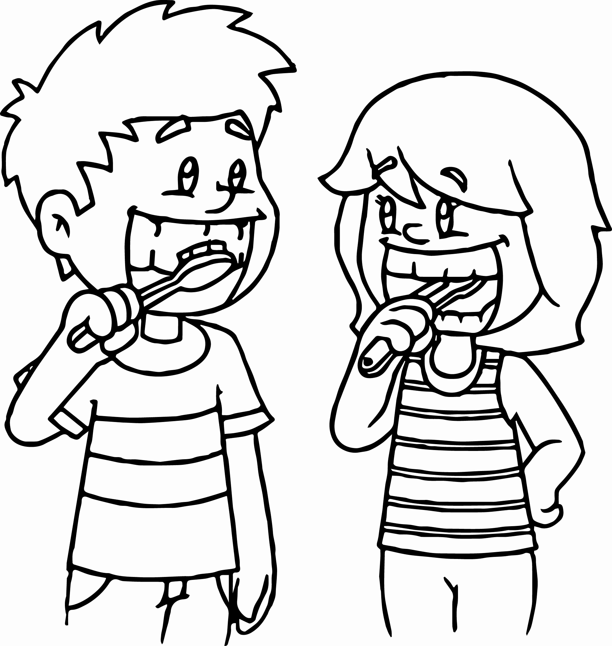 2074x2189 Toothbrush Coloring Page Coloring Page