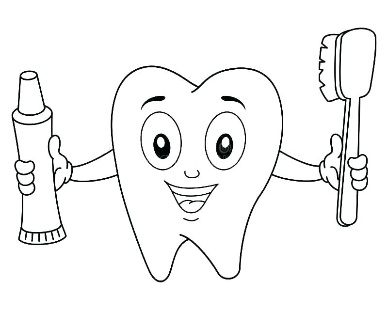 800x640 Free Printable Toothbrush Coloring Pages