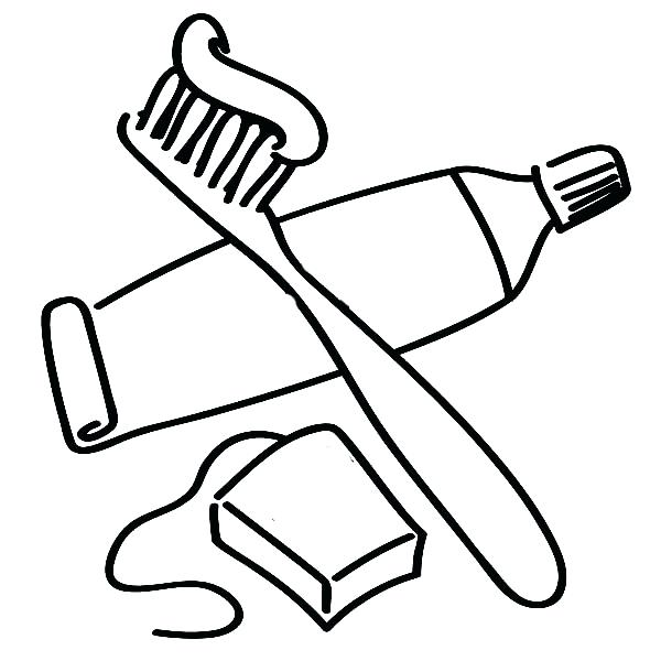 600x600 Coloring Pages And Coloring Books Toothbrush Coloring Page