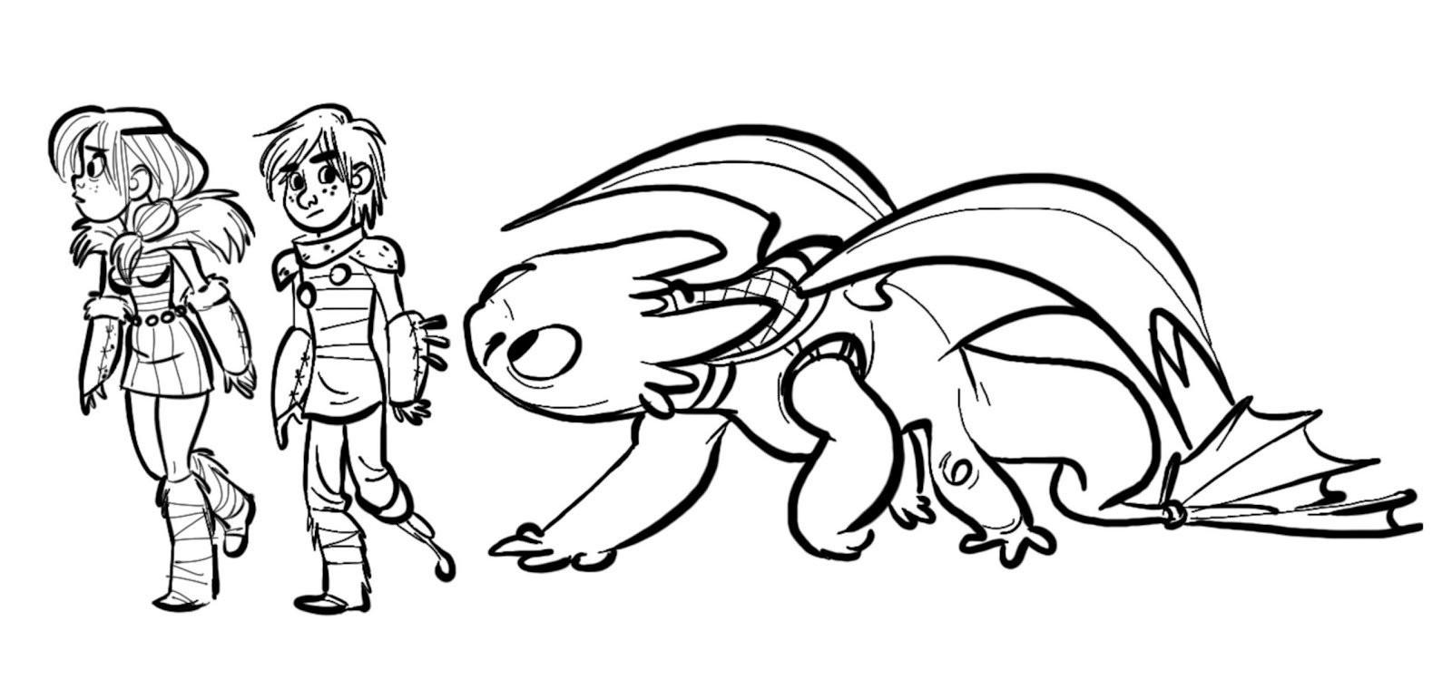 1600x749 Toothless Dragon Coloring Page Free Printable Pages Incredible