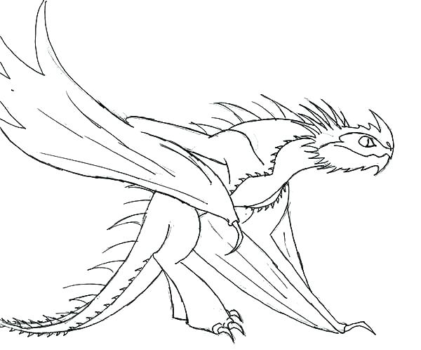 600x498 Toothless Dragon Coloring Pages Toothless Dragon Coloring Pages