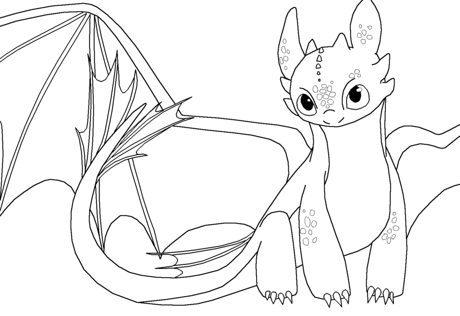 The best free Toothless coloring page images. Download ...