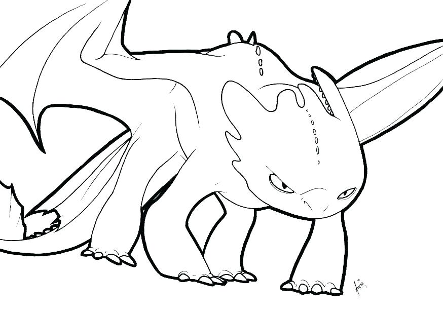 874x620 Toothless The Dragon Coloring Pages