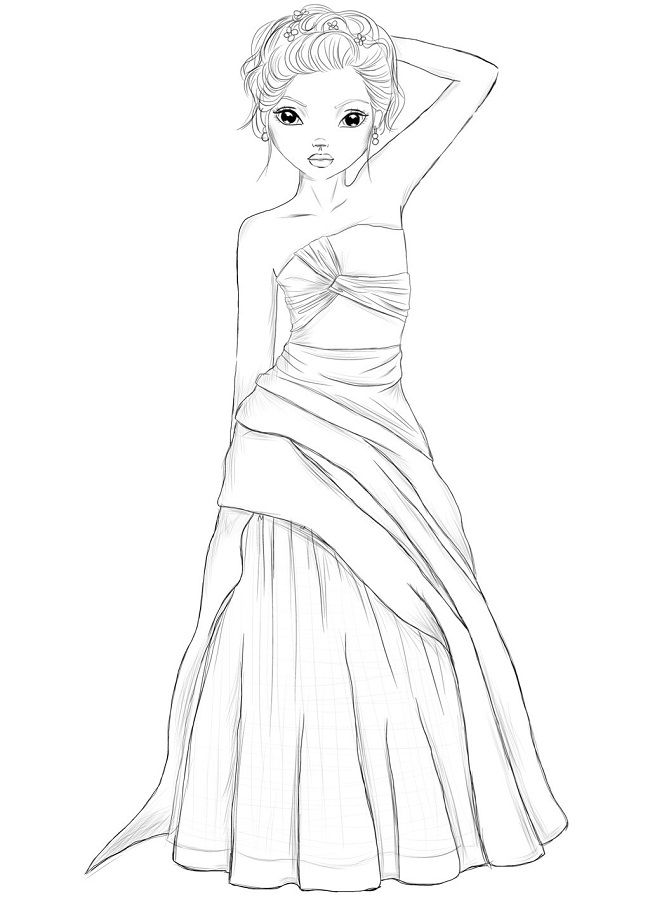 Top Model Coloring Pages At Getdrawings Free Download