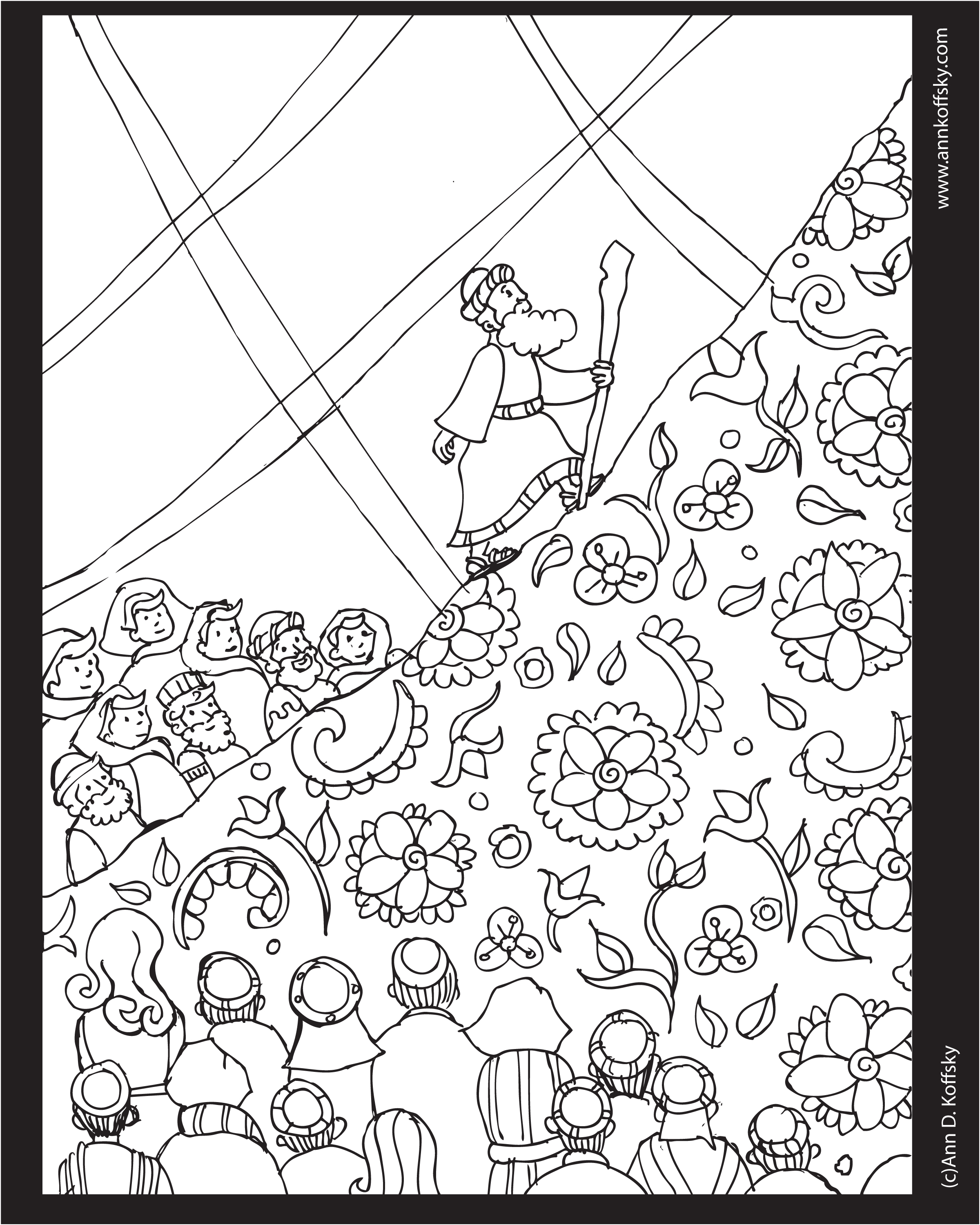 2400x3000 Shavuot Jewish Holiday Coloring Page