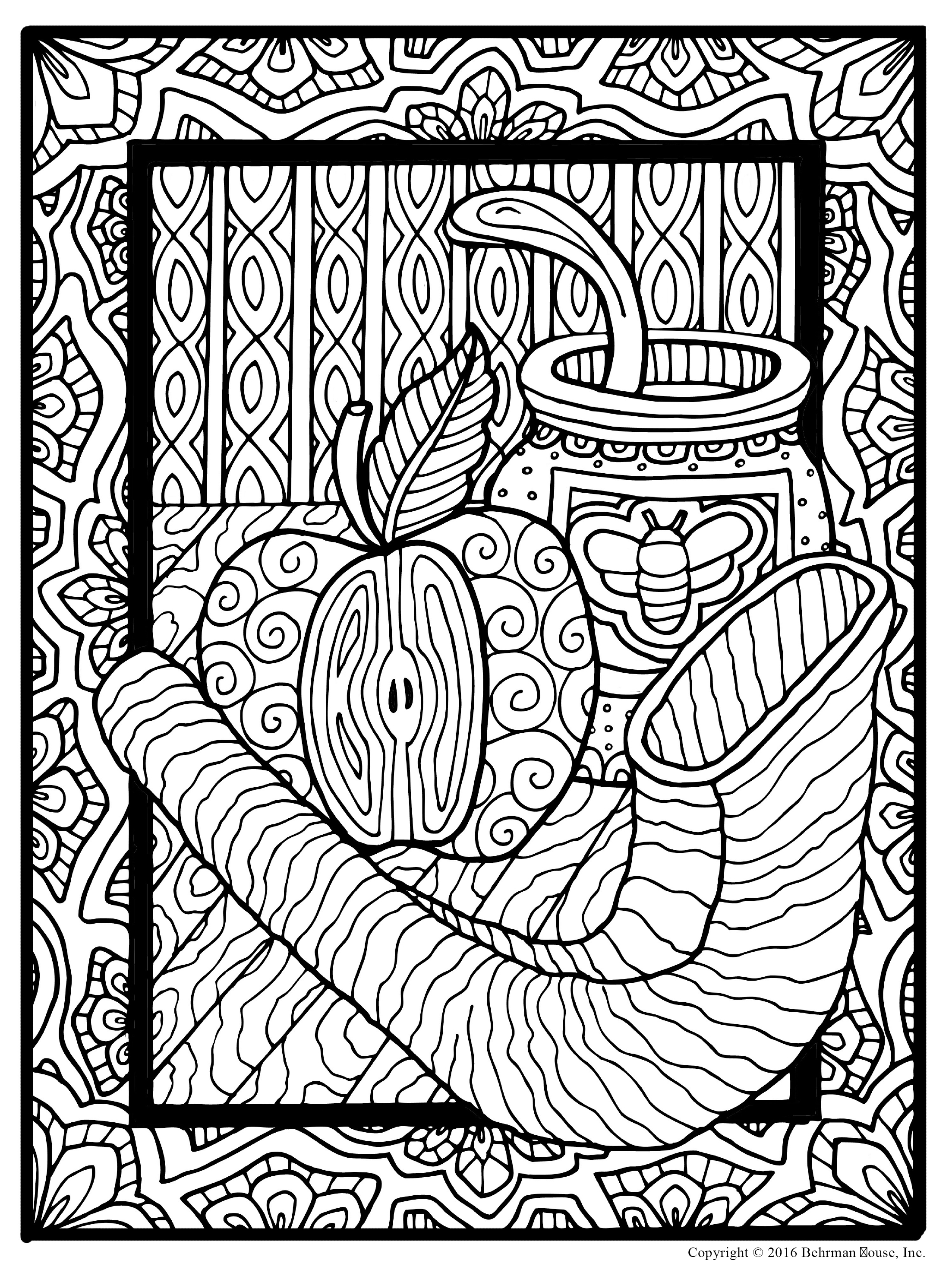2206x2948 Jewish Coloring Pages