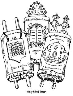 236x311 Jewish Coloring Pages For Kids Simchat Torah Apples Theme Rosh