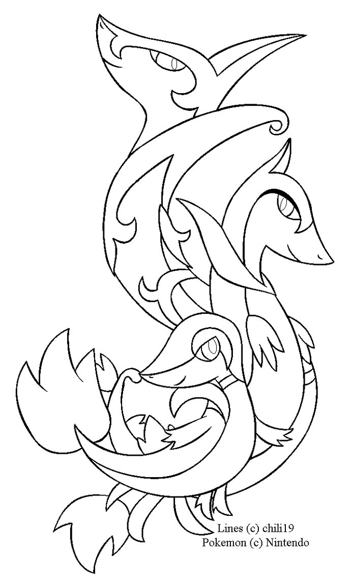 696x1148 New Snivy Coloring Sheet Free Colouring Pages Free Coloring