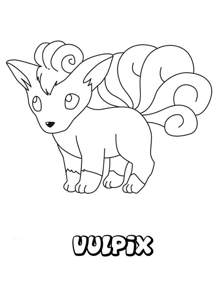 749x1060 Vulpix Coloring Pages
