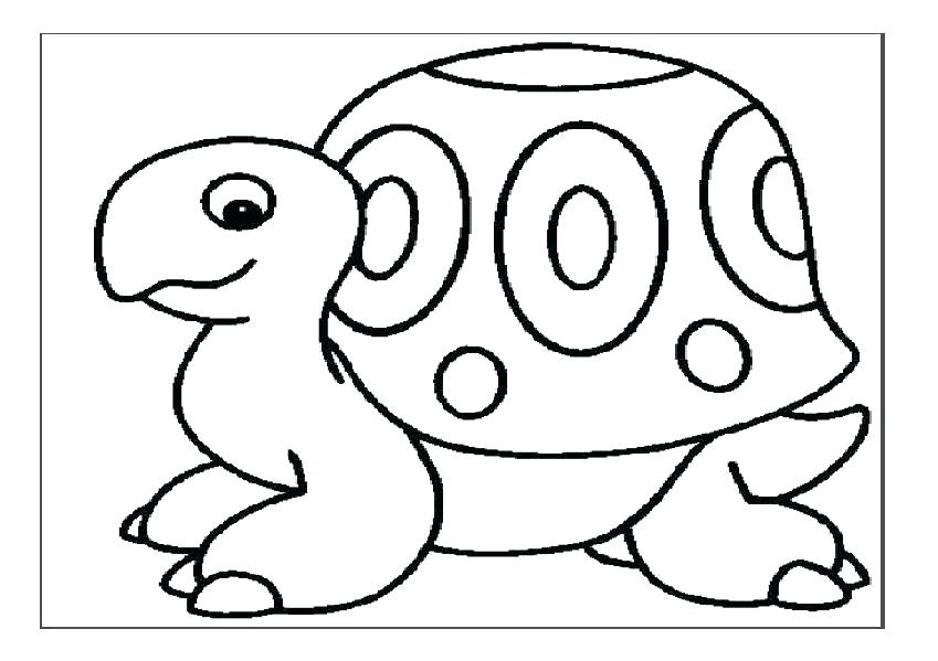 849x599 Tortoise Coloring Page