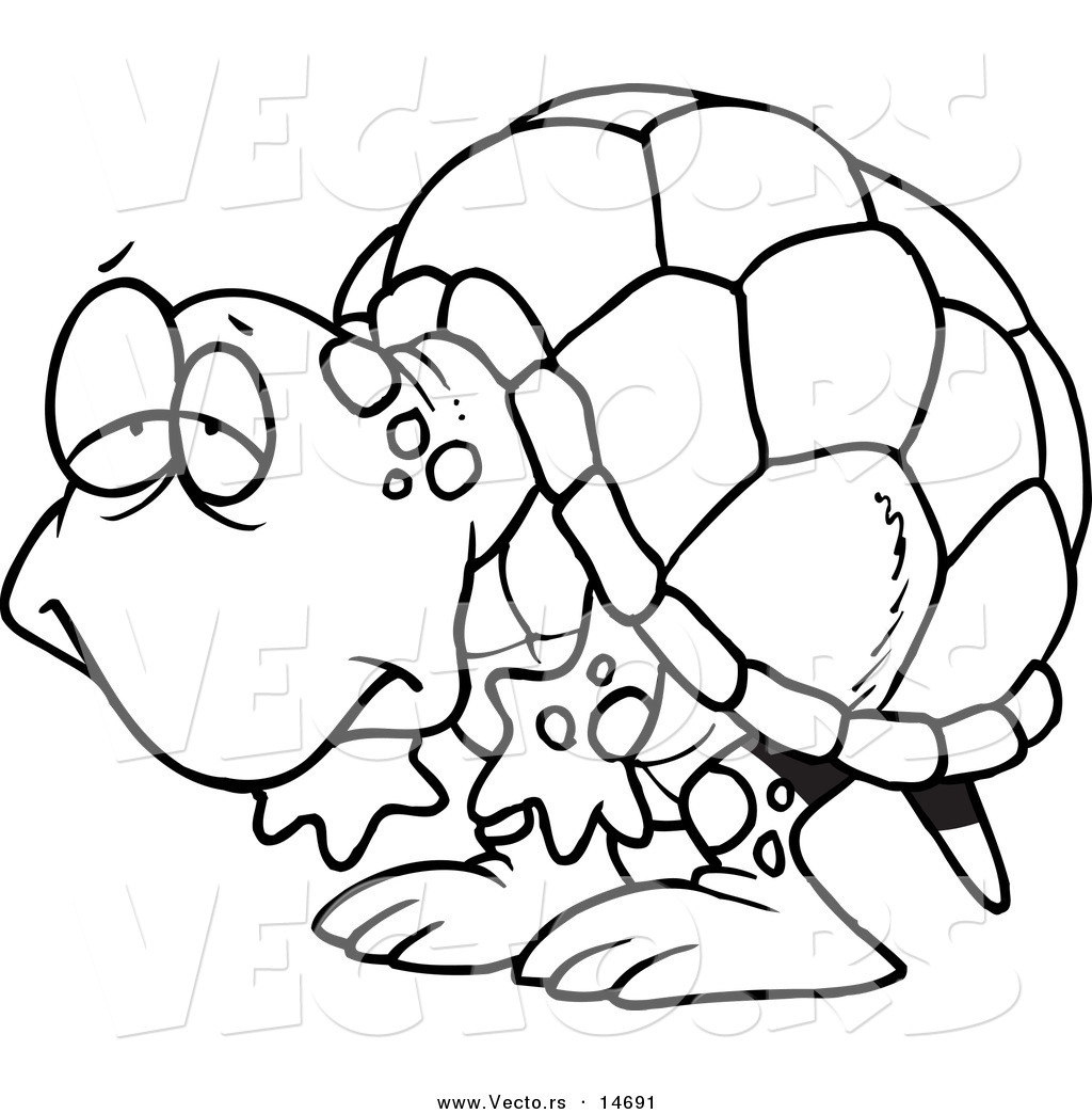 1024x1044 Vector Of A Cartoon Tired Old Tortoise