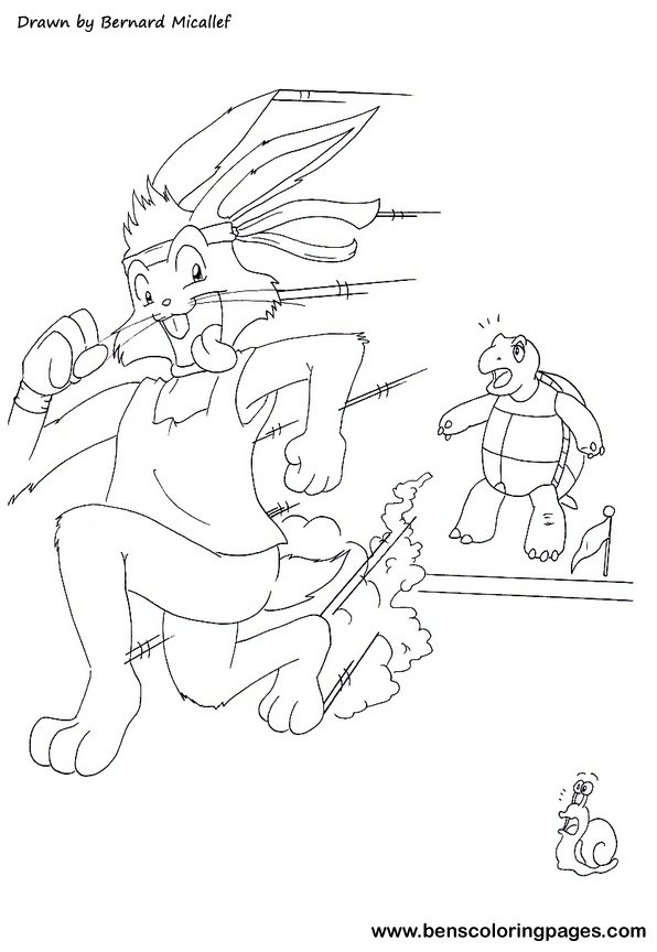596x864 Hare Tortoise Coloring Pages