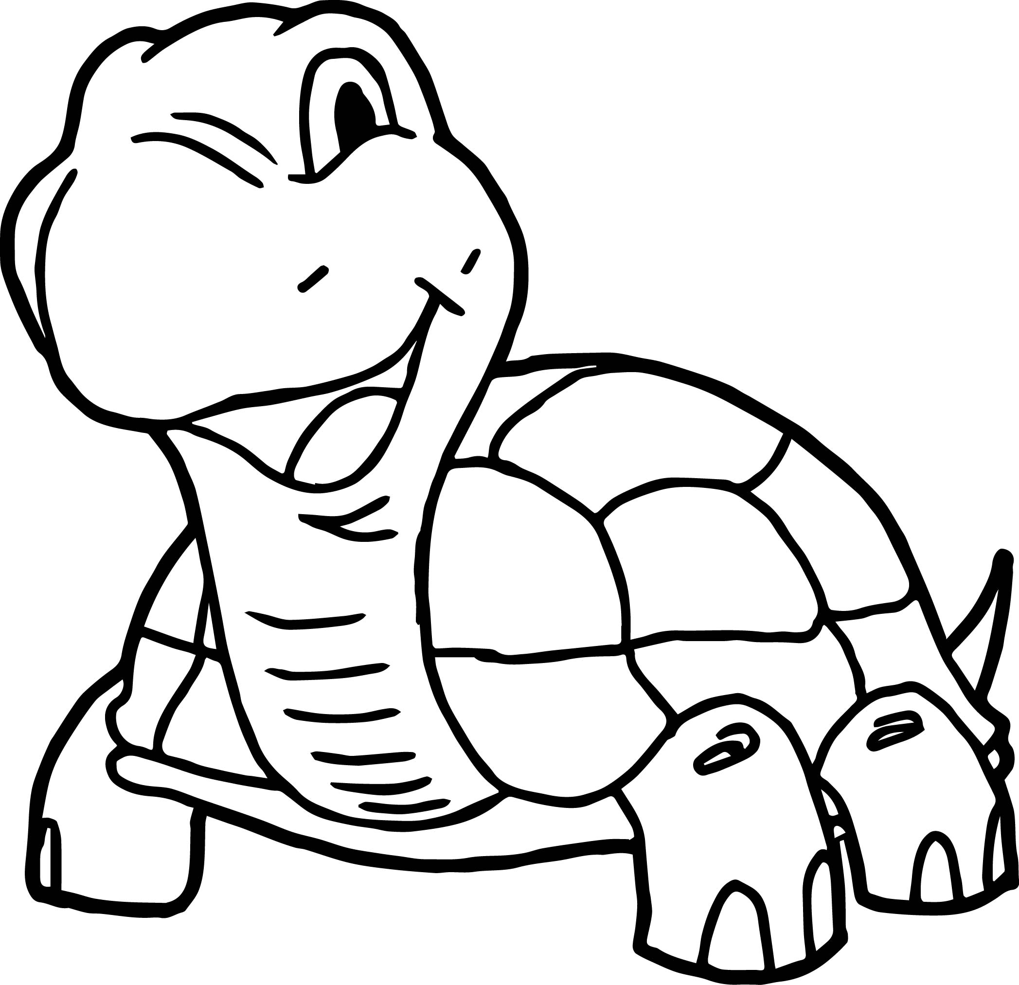 2095x2025 Smile Tortoise Turtle Coloring Page Wecoloringpage