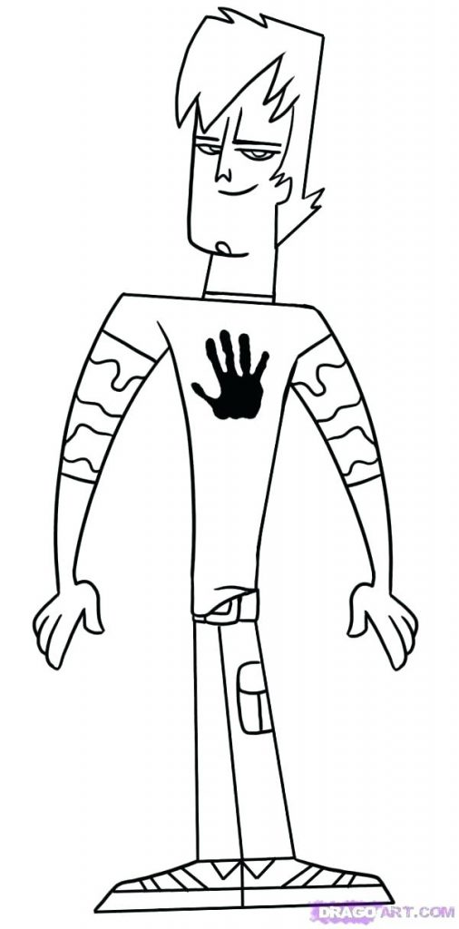 Total Drama Island Coloring Pages - Coloring Home | 1024x506