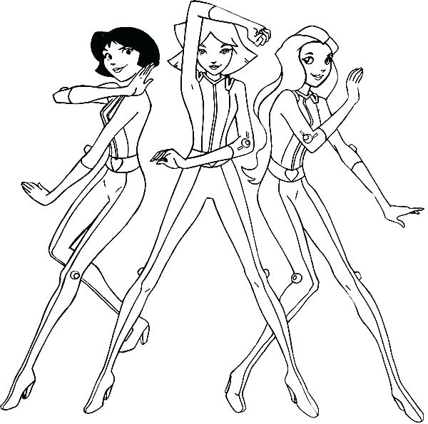 600x595 Totally Spies Coloring Pages Spies Y Spies Coloring Pages Y Spies