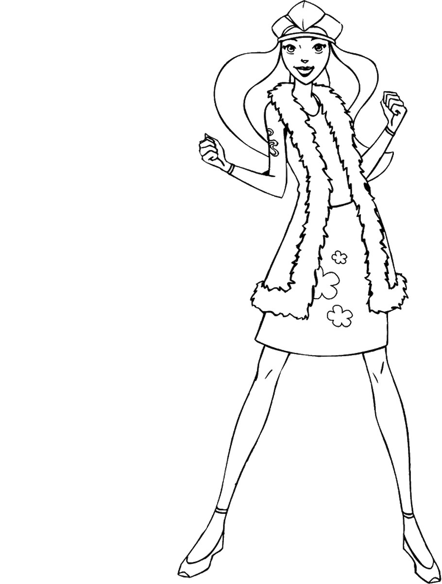 910x1200 Totally Spies Coloring Pages