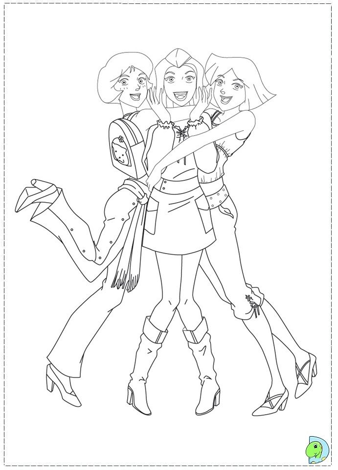 691x960 Totally Spies Coloring Page Stamps