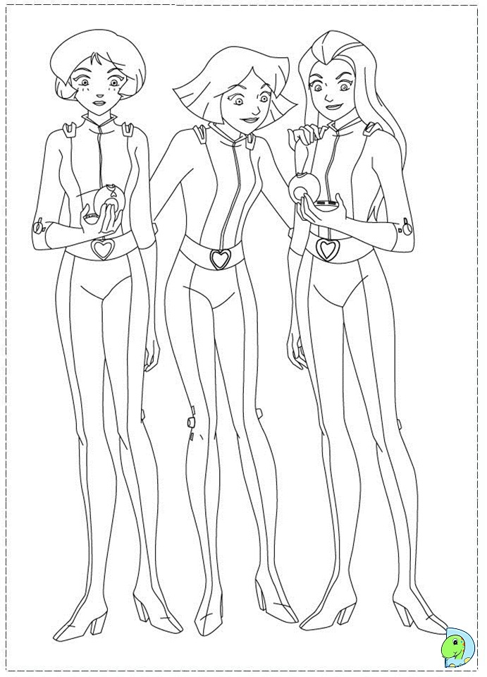 691x960 Totally Spies Coloring Page