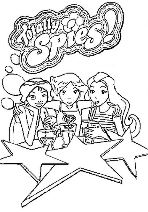 500x713 Coloring Page Tv Series Coloring Page Totally Spies