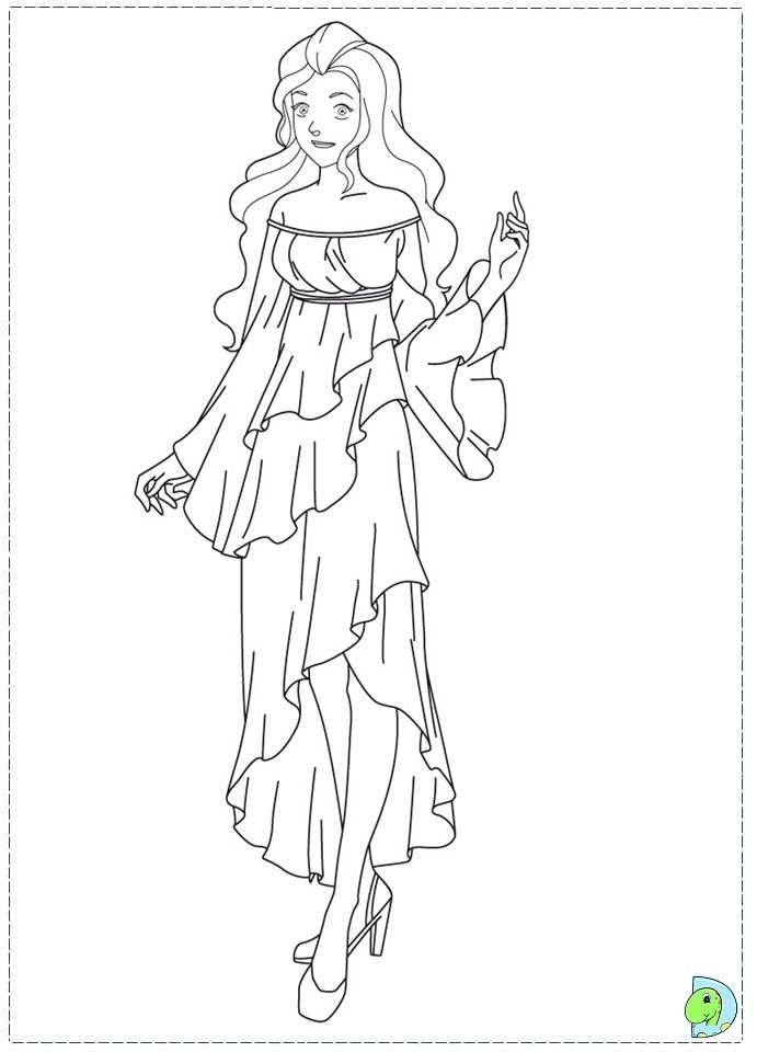 691x960 Totally Spies Coloring Pages A Tree
