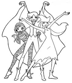 236x270 Totally Spies Coloring Pages Anime Totally Spies