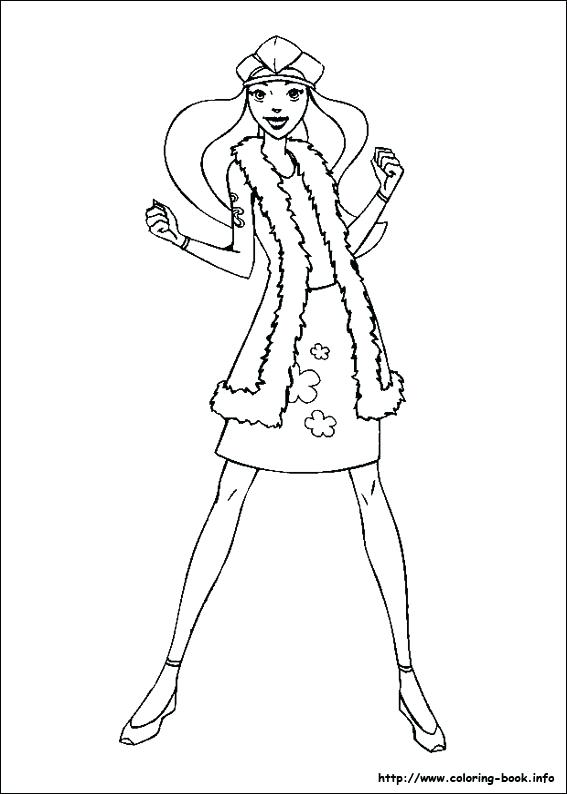 567x794 Totally Spies Coloring Pages Online Totally Spies Coloring Pages