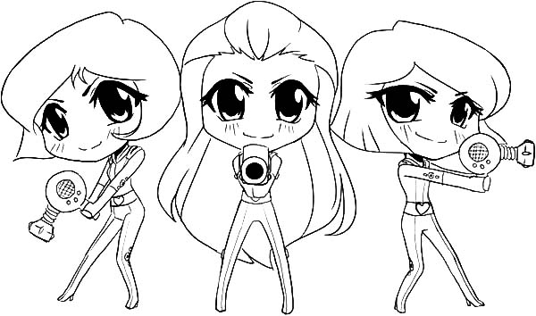 600x354 Totally Spies Chibis Coloring Pages Coloring Sun