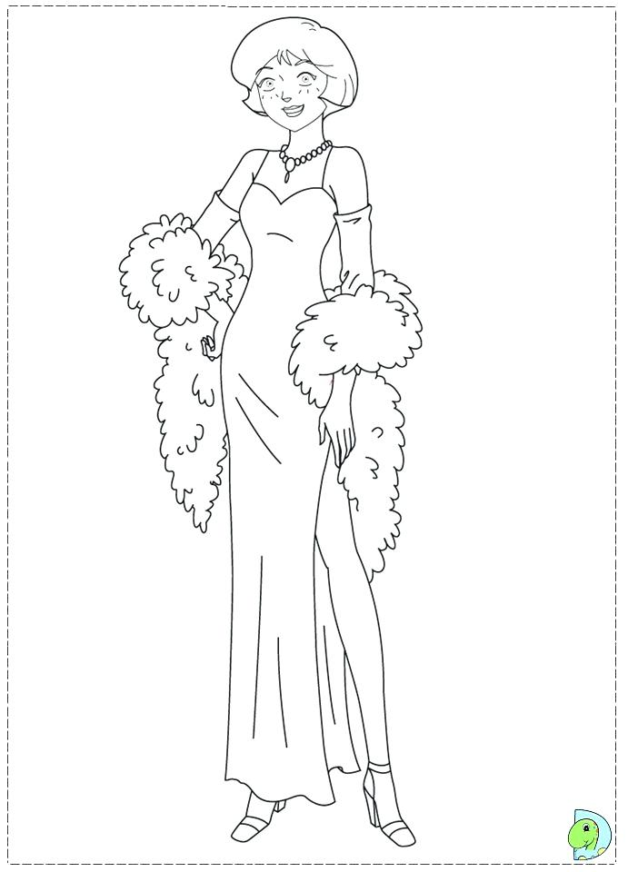 691x960 Totally Spies Coloring Page Totally Spies Coloring Pages Online