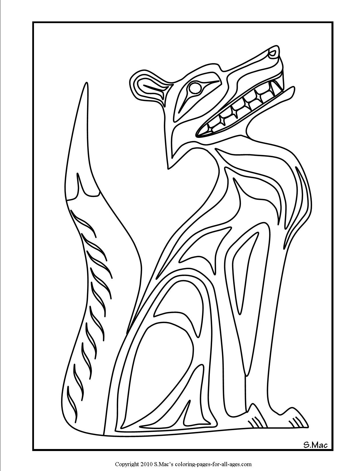 Totem Coloring Pages