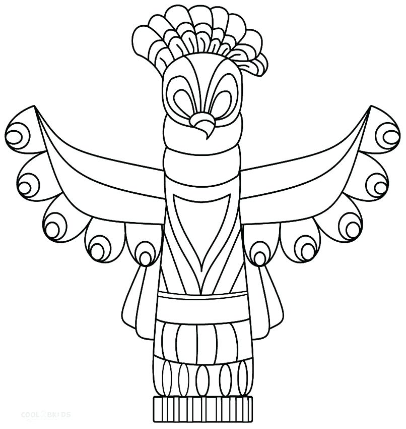 806x850 Fishing Pole Coloring Page Totem Pole Coloring Pages Printable