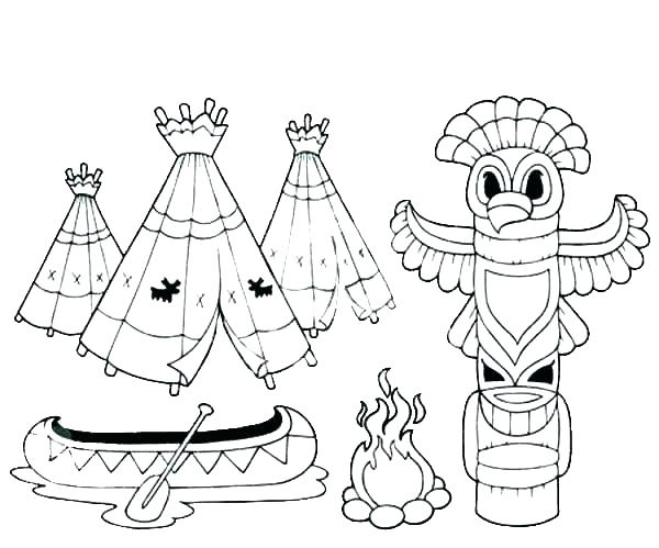600x499 Native Coloring Pages Printable Printable Totem Pole Native Native