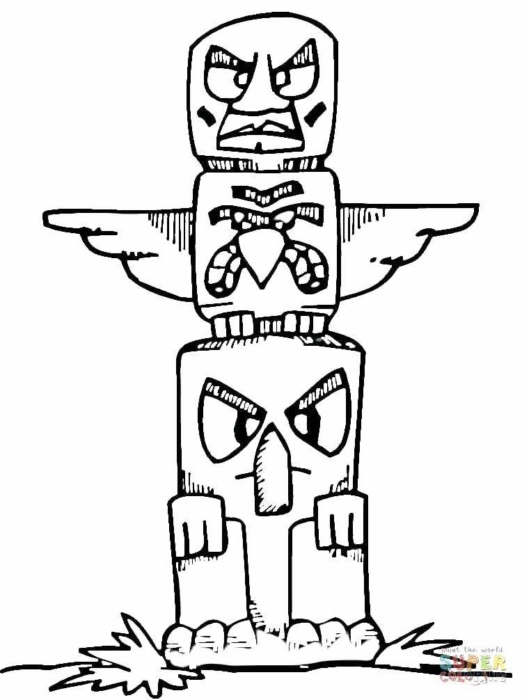 750x1006 Totem Pole Faces Coloring Pages Collection This Is Totem Pole
