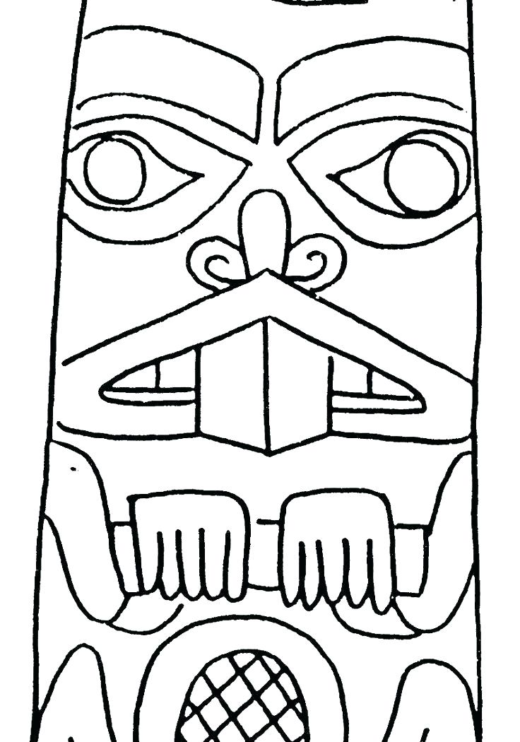 Totem Coloring Pages At Getdrawings Com Free For Personal Use