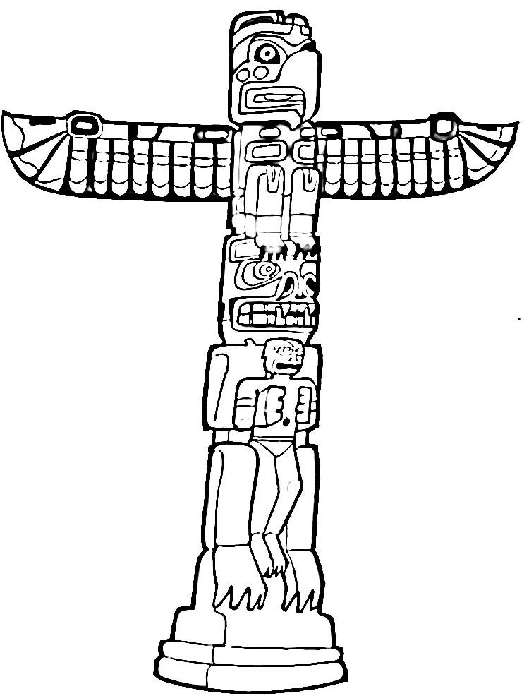 750x986 Totem Pole Coloring Pages Collections Free Coloring Pages