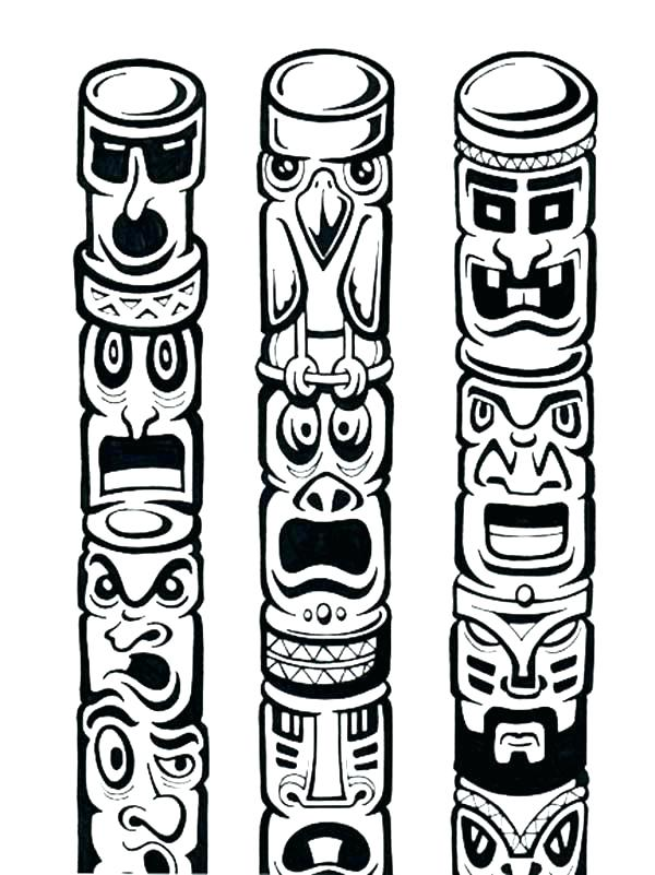 600x801 Totem Pole Coloring Page Totem Pole Coloring Pages Totem Pole