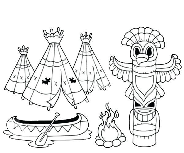 600x499 Totem Pole Coloring Pages Drawn Totem Pole Color Free Totem Pole