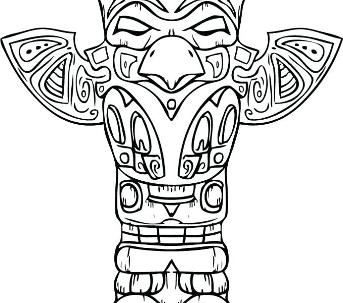 678x600 Totem Pole Coloring Pages Totem Pole Coloring Native American