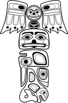 236x357 Free Printable Totem Pole Totem Pole Animals Raven Totempole