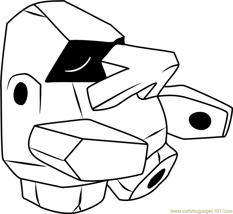 800x735 Nosepass Pokemon Coloring Page