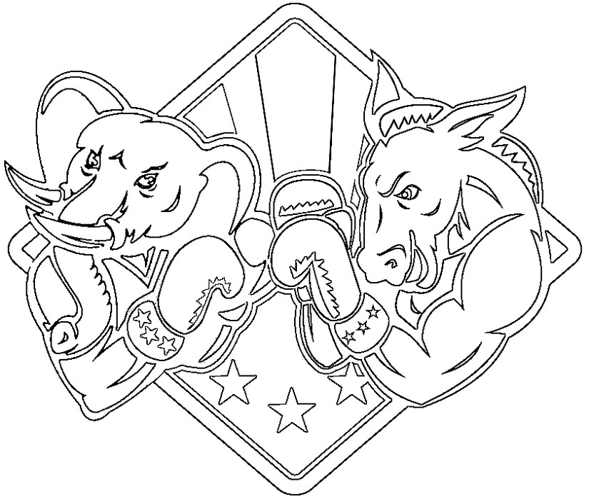 825x699 Presidential Election Coloring Pages