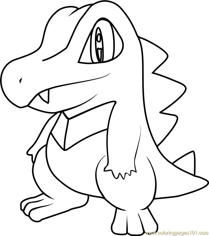 708x800 Totodile Pokemon Coloring Page