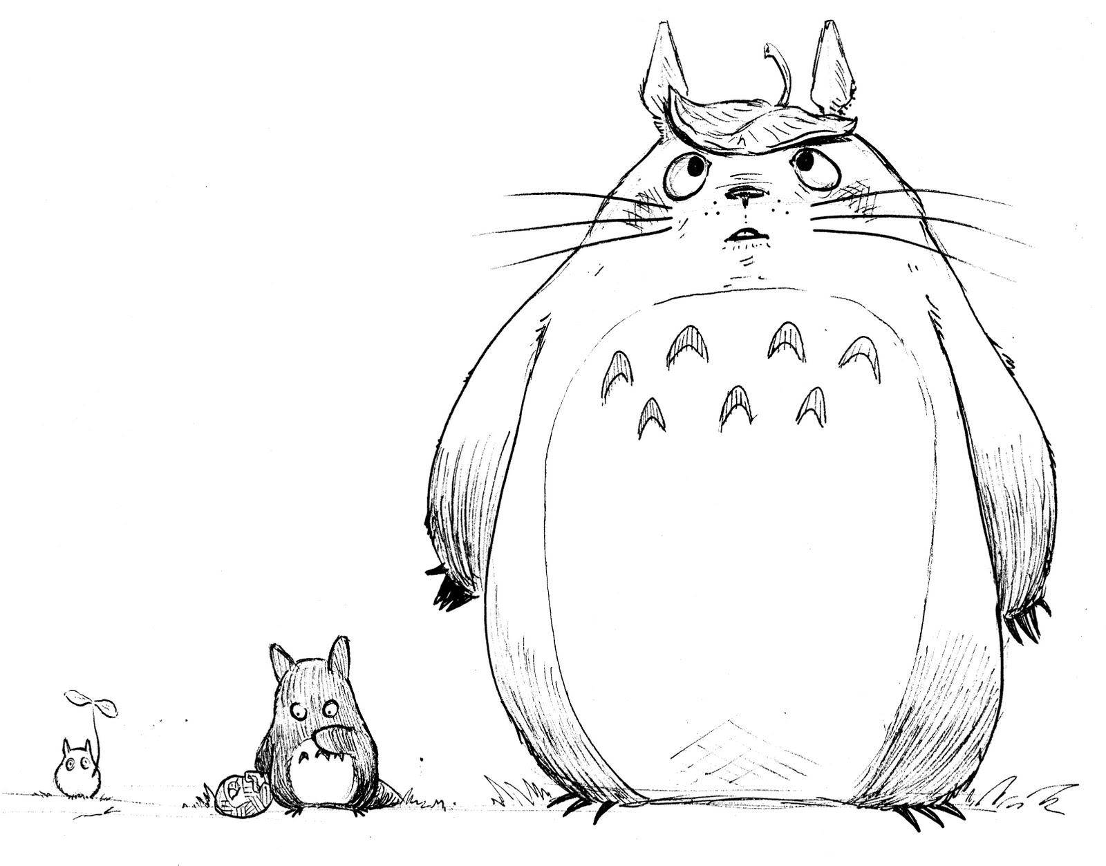 1600x1253 My Neighbor Totoro Coloring Pages Lively