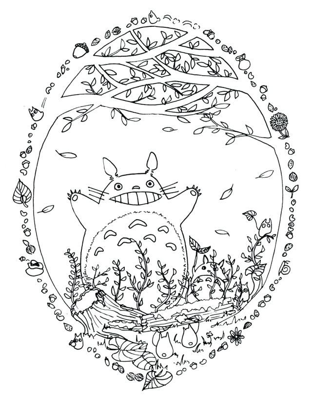 640x811 Neighbor Coloring Pages Free Coloring My Neighbour Totoro Coloring