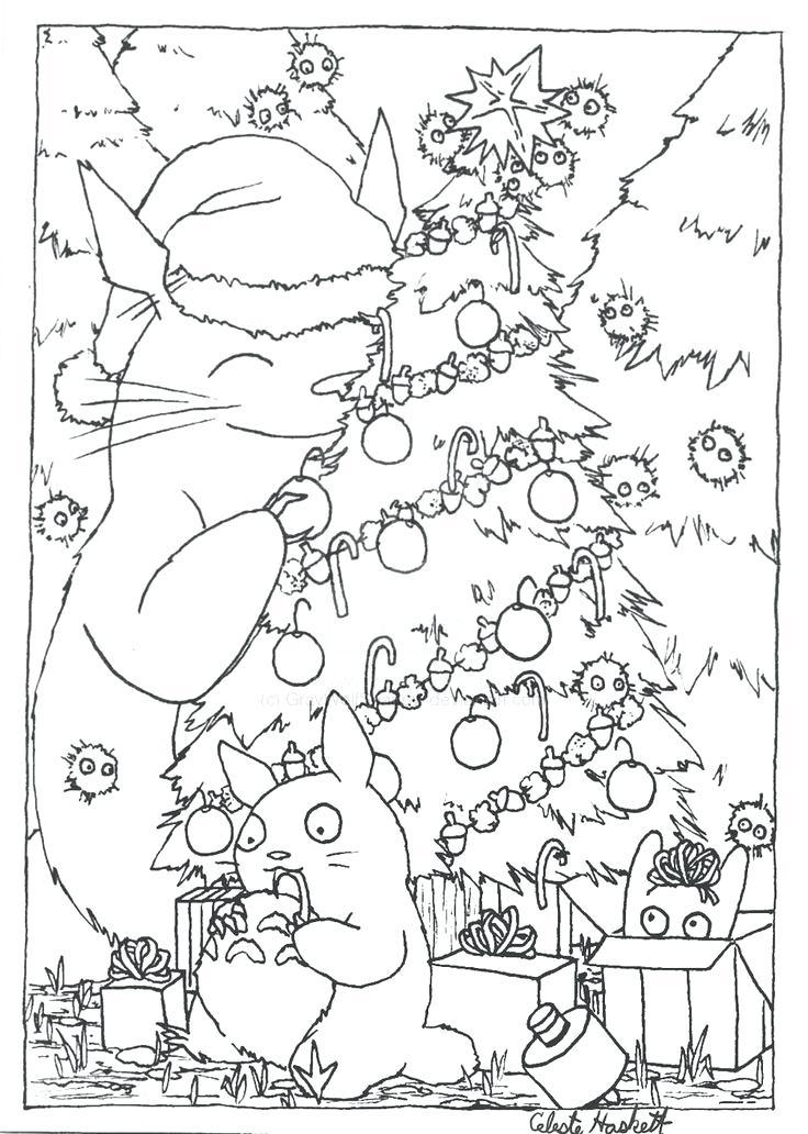 736x1032 Totoro Coloring Book Free Download Totoro Coloring Book Pic My