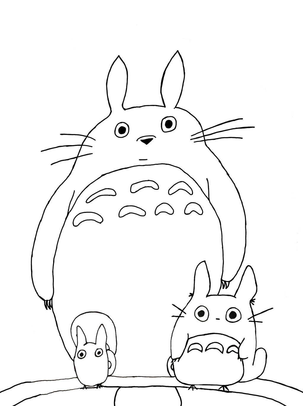 1024x1371 Totoro Coloring Pages