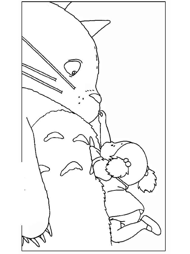 750x1000 Totoro Coloring Page Images Free Coloring Pages