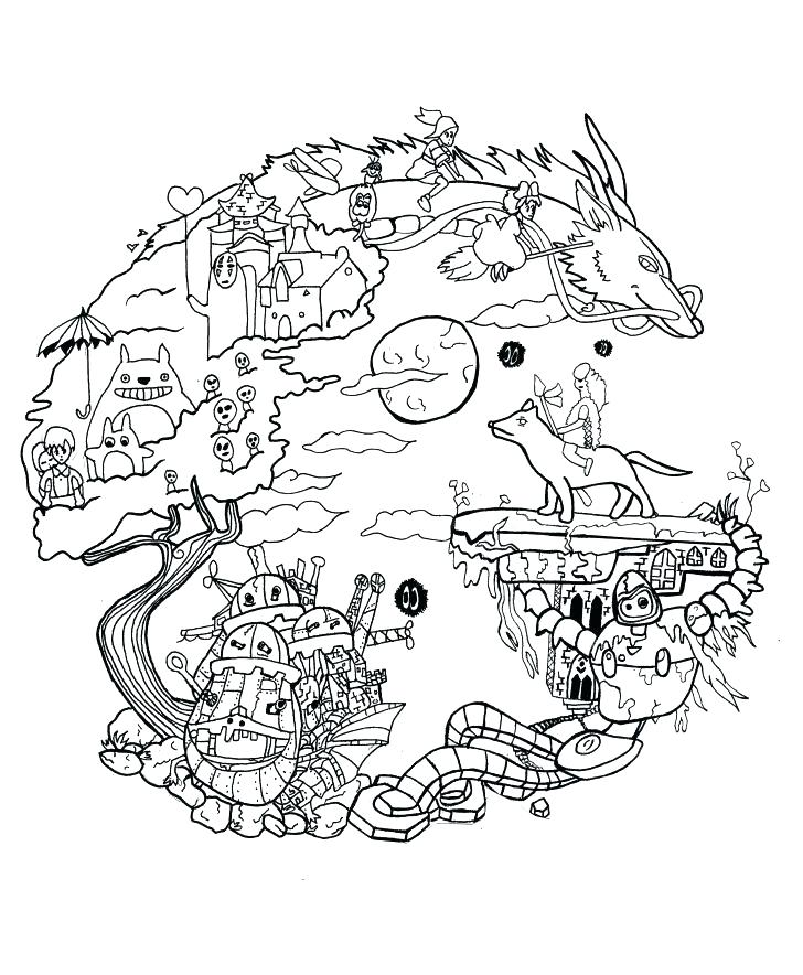 728x884 Totoro Coloring Pages Coloring Book Pages Medium Size Of Coloring